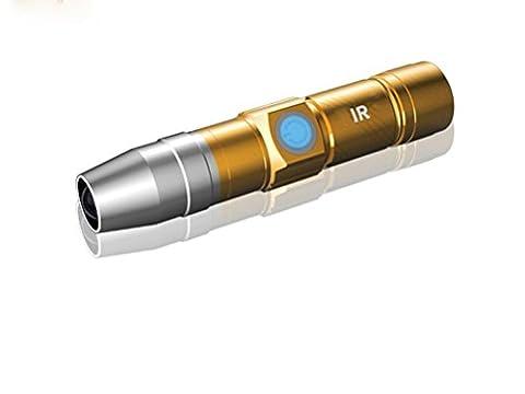 GJY LED LAMPE DE POCHEFluorescent Stylo Test Rechargeable Lampe De Poche Test D'Inspection Lumière Argent Agent Fluorescent Dédié Lumière Uv , Gold,gold