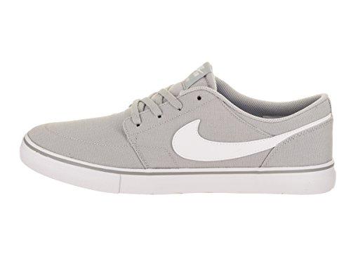 Nike Mens Portmore Ii Solar Cnvs Scarpa Da Skate Lupo Grigio / Bianco Nero