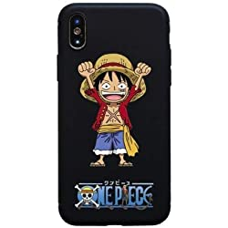 TN Cases Store Coque iPhone 7 et iPhone 8 Luffy One Piece Japon Wanted Dessin Animé Silicone Souple