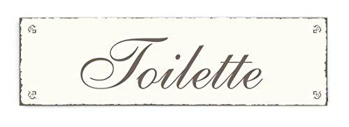 SCHILD Dekoschild « TOILETTE » Shabby Vintage Holzschild Türschild Kloschild Toilettenschild WC