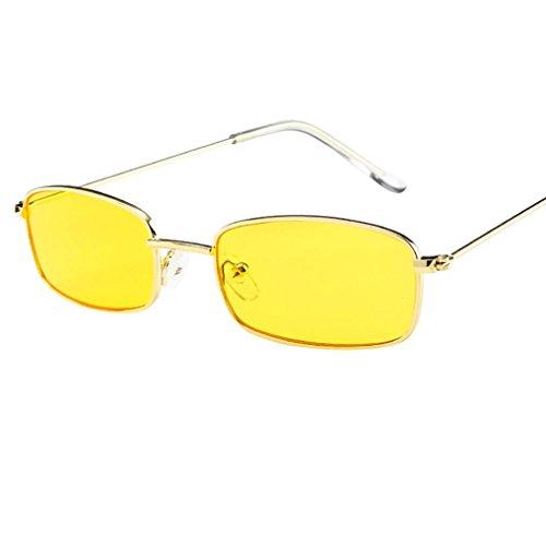 Dragon868 Vintage Brille Square Shades kleine rechteckige Sonnenbrille Rahmen (D)