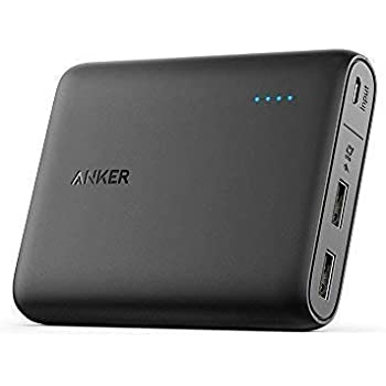 Anker PowerCore 13000 Power Bank - Compact 13000mAh 2 Port Ultra Portable Phone Charger with PowerIQ and VoltageBoost Technology for iPhone X / 8 / 8 plus, iPad, Samsung Galaxy(Certified Refurbished)