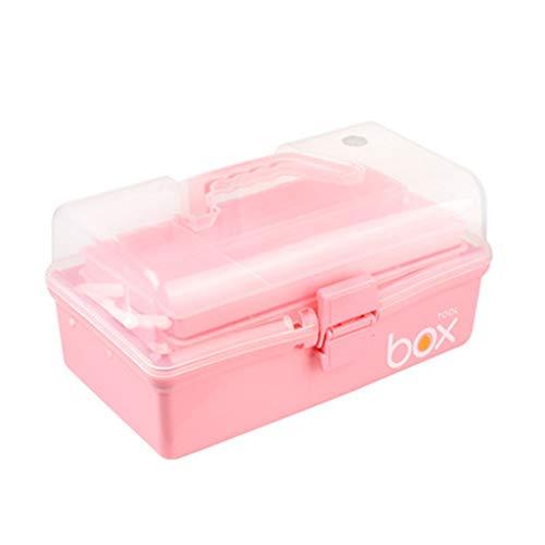 YQCSLS DREI-Schicht Große Medizinische Erste-Hilfe-Kit Medizinische Familie Aufbewahrungsbox Hause Verdickung Medizin Aufbewahrungsbox Rosa Tragbare Aufbewahrungsbox Tragbare -