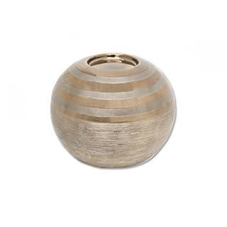 Aniba Design Teelichthalter von Becky 13, braun/gold ABKH0004-3