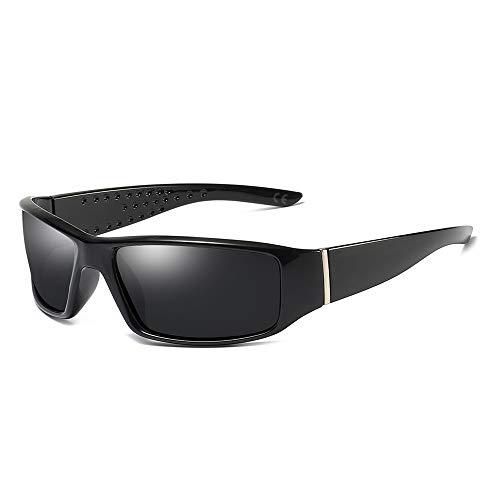 31dc24c1cf AMZTM Gafas de Sol Deportivas para Hombres Polarizadas Gafas Prueba de  Viento para Senderismo Pesca,