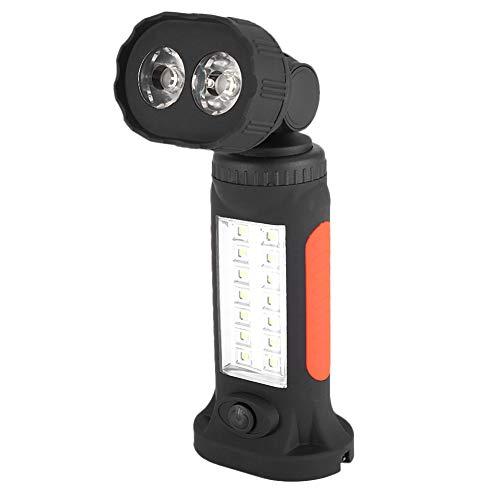 koulate Notfall-Taschenlampe LED Rotary Torch, tragbare LED-Taschenlampe Indoor Outdoor mit Magnet-Aufhänger für Camping, Wandern, Reisen, Werkstatt, Autoreparatur - Indoor-outdoor-magnet