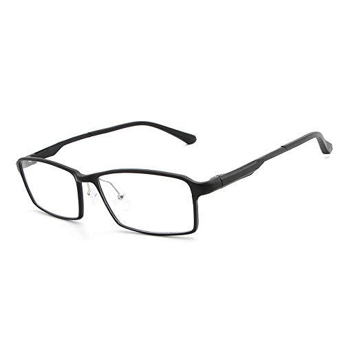 Frame Fashion Brillen Plain Brillen Herren Metall Ultra Light Flat Mirror Brillen Brille (Color : Schwarz, Size : Kostenlos)
