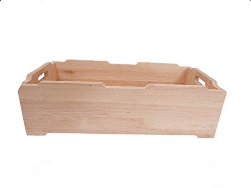 Niedrige Stapel-Holz-Kiste 'Hamburg' 6031 | niedrige Holzkiste / Stapelbox | Kinder-Stapelboxen in vielen Größen vorrätig | für Kindergarten und jedes Kinderzimmer | Naturprodukt