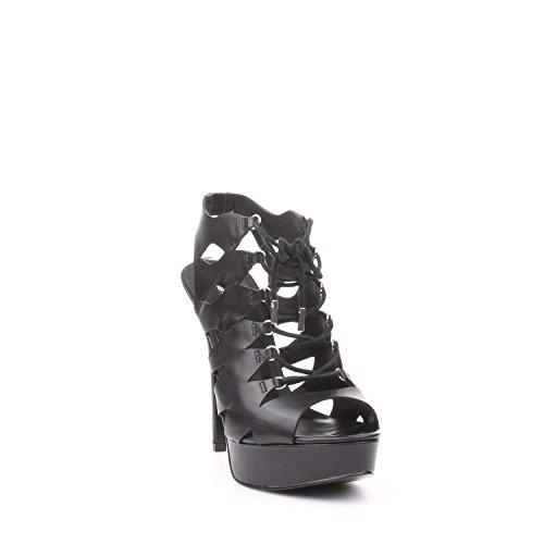 Guess FLKS21LEA03 Sandalo Tacco Donna Nero