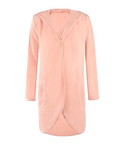 SunIfSnow - Manteau - Duffle coat - Uni - Manches Longues - Femme - rose - XXXX-Large
