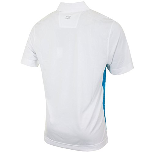 Cutter & Buck Herren Poloshirt weiß weiß Weiß