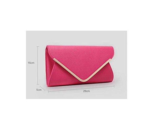 Arbeiten Sie Damen Abendtasche Neue Hülle Tasche Clutch Bag Umhängetasche Purple