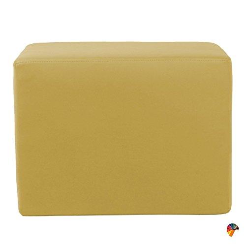Arketicom Puff Puf Pouf Dado, Cubo Reposapies en Piel Sintetica Polipi