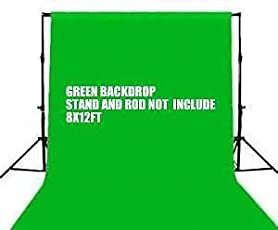 SHOPEE Branded Chromakey Green Muslin Backdrop Background 8x12 Ft for Photo Video Studio Backdrop - Camera Accessory