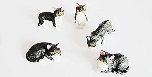 Streets Ahead Katzen-Figuren, Miniatur-Format, Zubehör für Miniatur-Feengärten, 5Stück - Miniatur-katzen