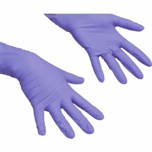 Preisvergleich Produktbild Vileda Handschuhe LiteTuff Nitril Größe S VE=100 Stück