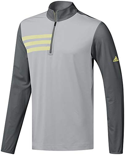 adidas Herren 3- Stripes Competition 1/4 Zip Sweatshirt Pullover Kinder Grau (Gris Dq2421) Medium -