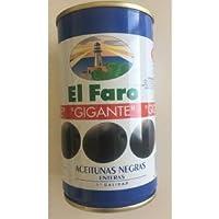 Aceitunas negras con hueso El Faro 150 g.