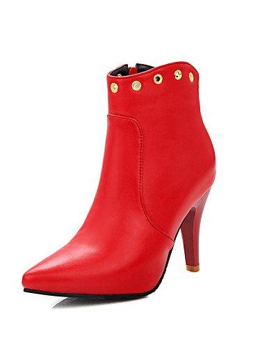 ShangYi Mode Damenschuhe Stiefel, Schuhe / Stiefel / Stiefel Kunstleder Mode Outdoor / Büro & Karriere / Casual Stilettabsatz Andere Schwarz
