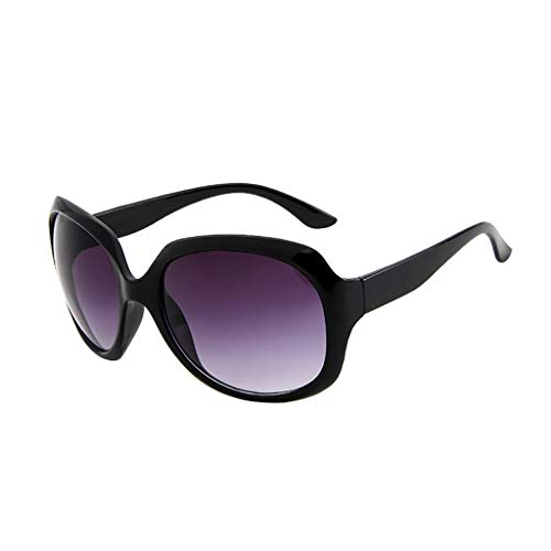 Über-Groß Sonnenbrille Polarisiert für Damen/Dorical Mode Oversized UV-400 Designer-Brille Shaded Objektiv Vintage Brillen Outdoor Brille Super Coole Frauen Sunglasses Travel Eyewear(A)
