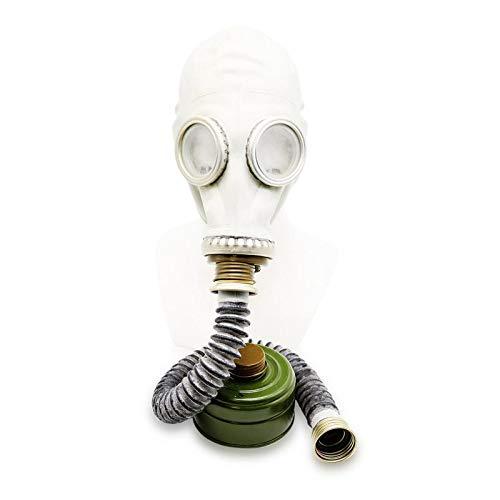 Kostüm Taschen Komplette Geschichte - OldShop Gasmaske GP5 Set - Sowjetische Militär Gasmaske Replica Sammlerstück Set W/ Maske, Hose,Tasche, Filter - authentischer Look & Verschiedene Größen erhältlich Farbe: Grau | Größe: XL