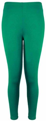Damen Leggings Plus Größen Lässige Freizeit Stretch Hosen Einfarbig Lang Neu Jadegrün