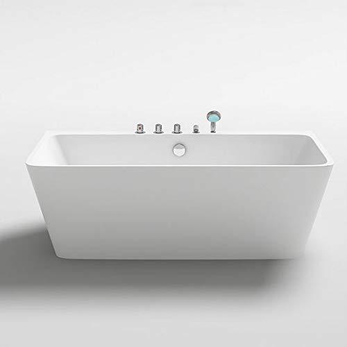 Vasca da bagno 170x80x58h freestanding per centro stanza design moderno bianco lucida i