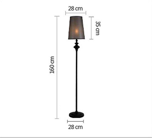 - Chrom-kristall-tisch-lampe (WYJD Stehleuchten ® Stehlampe Lesen Torchiere Schwarzes Fußboden-Lampen-Gewebe Lampenschirm Schmiedeeiserner Lampen-Unterseiten-Wohnzimmer-Raum-Beleuchtung-Dekor)
