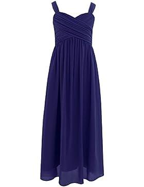 Freebily Kleid Mädchen festlich Chiffon Hochzeit Abend Kleider Sommerkleid Freizeitkleid Party Kleid Prinzessin...