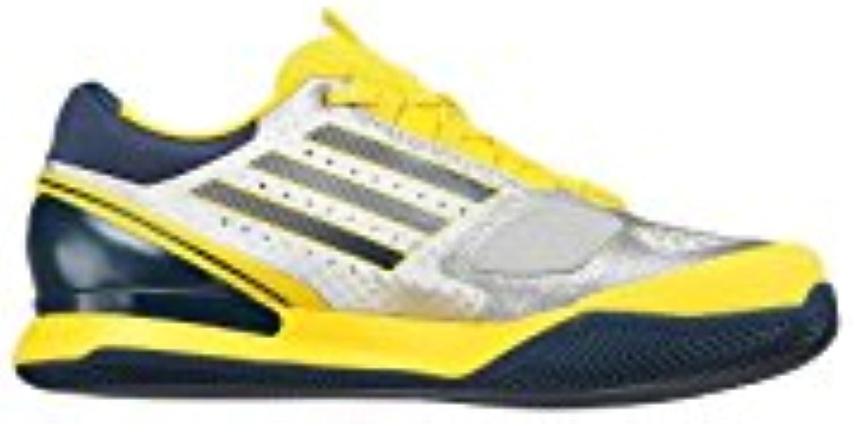 Zapatillas adidas hombre Adizero Feather II Clay amarillo/plata/azul 2013, amarillo  -