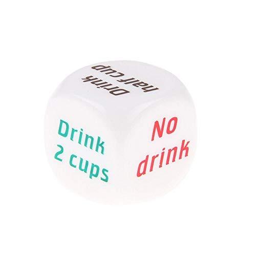 JackRuler Farbdruck Englischer Wein Trinken-Skorpion-Freund-Abendessen-Spiele Glücksspiel kreative Würfel Bar Party Fun Toy (1pc) (Würfel-glücksspiel)