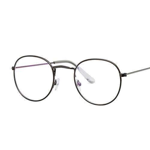 Kjwsbb Ovale Damenbrille Optische Brillen Metall Runde Brillenfassung Klare Linse Brillen Schwarz Silber Gold Brillenglas