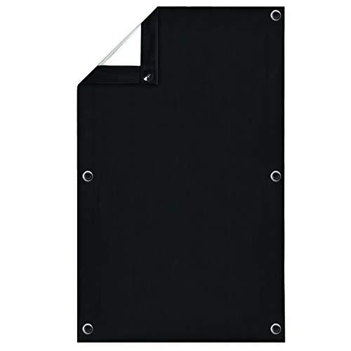 Greatime 100% Lichtundurchlässig Gardinen mit Saugnäpfen Verdunkelungsvorhang, Isolierung für Velux Dachfenster(Schwarz,76x93cm)