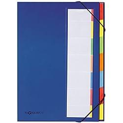 Pagna 44171-02 Deskorganizer 7-teilig Color-Einband, Eckspanngummi, dehnbarer Rücken farbiges Griffregister, blau
