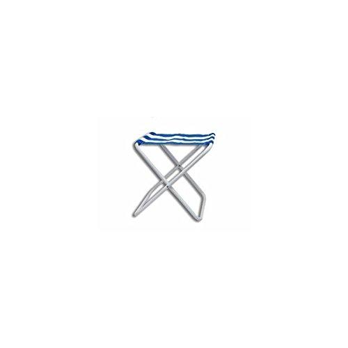 JUINSA 82507 Taburete Plegable, Azul, 42x35x75 cm