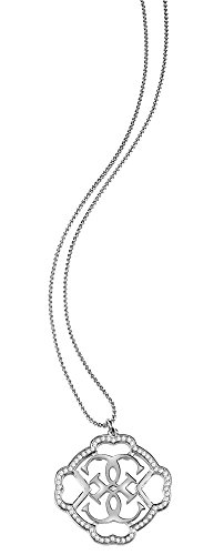 Guess Damen-Kette mit Anhänger Messing Zirkonia transparent 90 cm - UBN21571