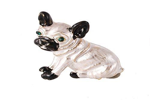 (Koojawind Modische Puppy Dog Kristall Brosche KostüM Abzeichen Partei Schmuck Geschenk, Elegante Hohle Strass Welpen Brosche FüR Hochzeit, Kleidung Dekoration Schmuck)
