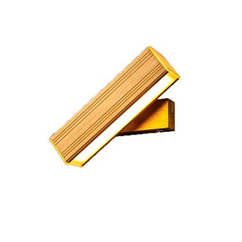 ANQIY Nachttischlampe, Moderne Unbedeutende Kreativität Wohnzimmer Schlafzimmer Treppe Balkon Gang Lesewandlampe (Color : Titanium Gold, Size : 32cm*5cm*5cm*5cm) -