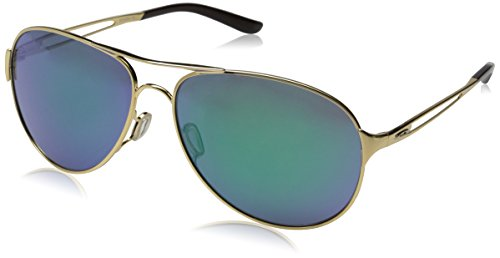 Oakley Damen Caveat Aviator Sonnenbrille, Polished Gold/Jade Iridium (S3)/Jade Iridium (S3) (Oakleys Aviators)