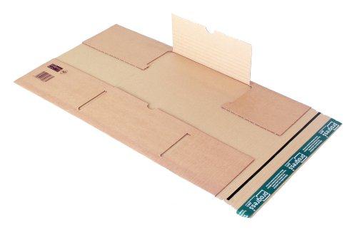 progressPACK Universal-Versandverpackung Premium PP B05.04 aus doppelter Wellpappe, DIN C4, 350 x 260 x bis 70 mm, 20-er Pack, braun
