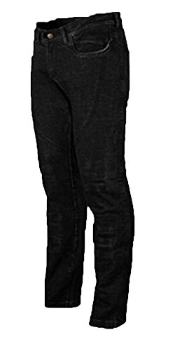 *Ladies Motorcycle Jeans CE Knee Armoured KEVLAR Stretch Denim(16 reg) BLACK*