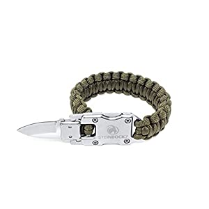 STEINBOCK7 Survival Paracord Männer Armband – Tactical Mini Messer