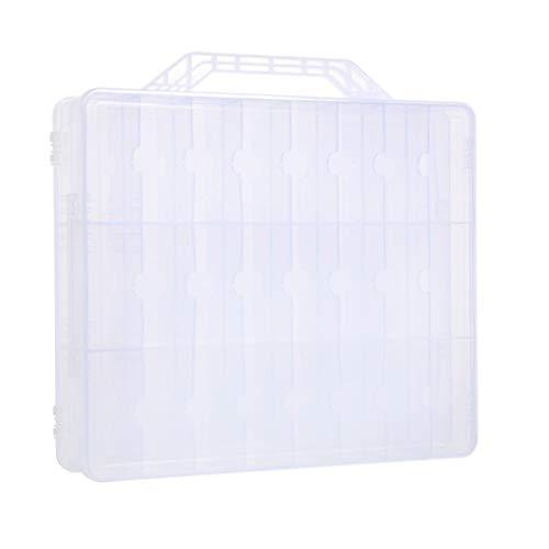 Mengonee 48 Machines à sous Transparent Doubles Couches en Plastique Boîte de Rangement à Bijoux Rouge à lèvres Accessoires pour conteneurs