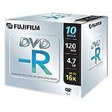 Fujifilm DVD-R 4,7Gb jewelcase 16x 10-pack - DVD+RW vírgenes (5 - 55 °C, 10 - 95%, 0,74 µm)