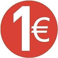 1 € EURO -Paquete de 500-20mm rojo - Price stickers
