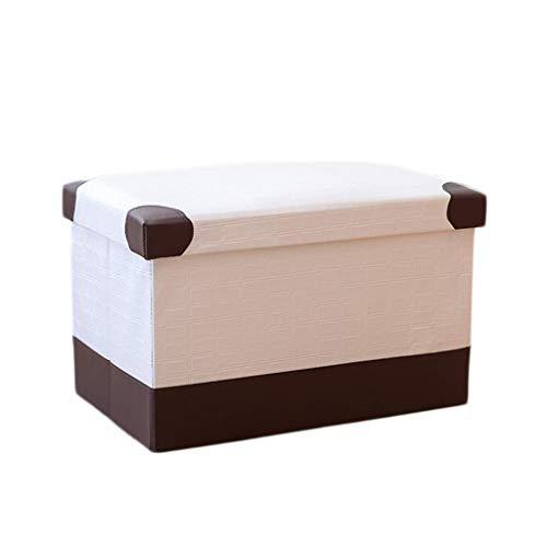 Preisvergleich Produktbild LPD Marken - Faltbare Osmanische PU-Aufbewahrungsbox Haushalts-Diversess-Aufbewahrungshocker Die Höchste Last Beträgt 150 Kg - Leicht Zu Reinigen (Farbe : E,  größe : 40X25X25cm)