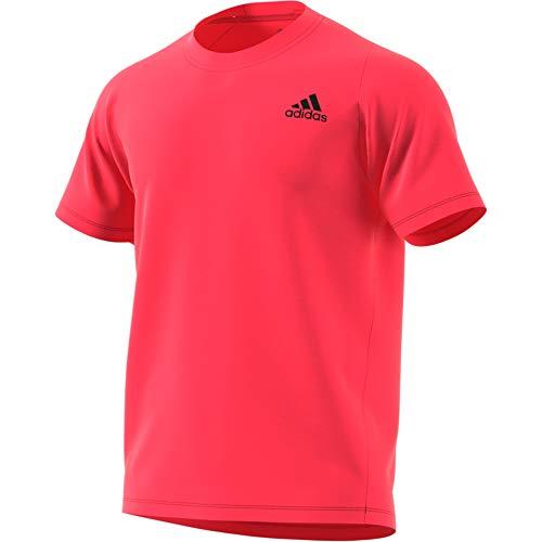 Climalite Performance T-shirt (adidas Freelift_Sport Prime Lite Tee T-Shirt, Herren L rot (Shock Red))
