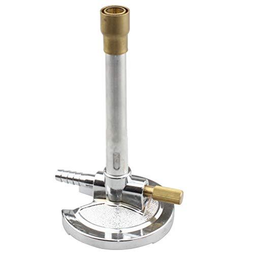 UKCOCO Quemador Bunsen de gas propano con estabilizador de llama y ajuste antigás de gas
