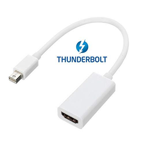 Chenyang Adapterkabel Thunderbolt-Stecker auf HDMI-Buchse, Audio-Video für Apple MacBook 201120122013, Farbe: Weiß