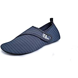 Veluckin Zapatos de Agua Hombre Mujer Escarpines Antideslizante de Playa Calzado de Playa Surf,Gris,36/37EU